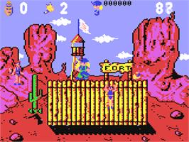 In game image of Hammer Boy on the Commodore 64.