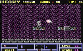 In game image of Hard 'n Heavy on the Commodore 64.