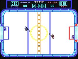 In game image of Hat Trick on the Commodore 64.