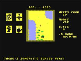 In game image of Heart of Africa on the Commodore 64.