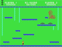 In game image of Hercules: Slayer of the Damned on the Commodore 64.