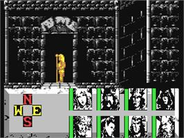 In game image of Heroes of the Lance on the Commodore 64.