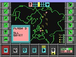 In game image of High Frontier on the Commodore 64.