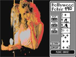In game image of Hollywood Poker on the Commodore 64.
