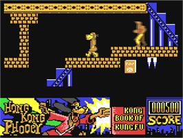 In game image of Hong Kong Phooey: No.1 Super Guy on the Commodore 64.