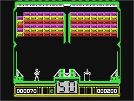 In game image of Hotshot on the Commodore 64.