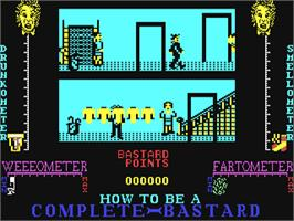 In game image of How to be a Complete Bastard on the Commodore 64.