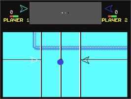 In game image of Hyperbowl on the Commodore 64.