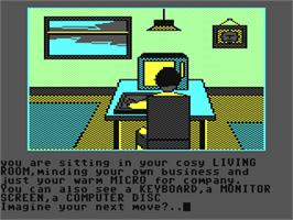 In game image of Imagination on the Commodore 64.