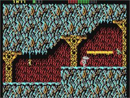 In game image of Impossamole on the Commodore 64.