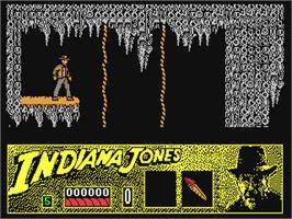 In game image of Indiana Jones and the Last Crusade: The Action Game on the Commodore 64.