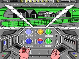 In game image of Infiltrator on the Commodore 64.