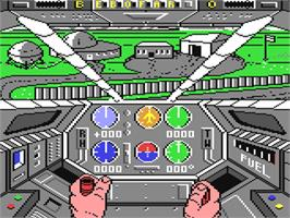 In game image of Infiltrator II on the Commodore 64.