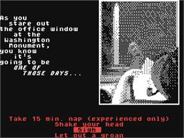 In game image of Intrigue! on the Commodore 64.