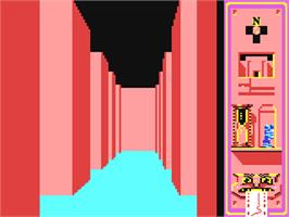 In game image of Invaders of the Lost Tomb on the Commodore 64.