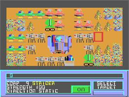 In game image of Invasion on the Commodore 64.