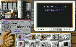 In game image of Invest on the Commodore 64.