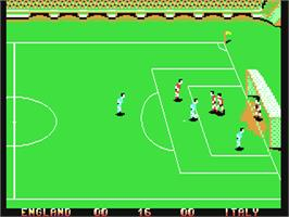 In game image of Italy '90 Soccer on the Commodore 64.