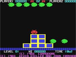 In game image of Jack Attack on the Commodore 64.