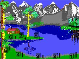 In game image of Jack Charlton's Match Fishing on the Commodore 64.