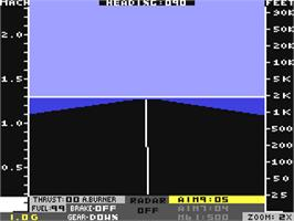 In game image of Jet on the Commodore 64.