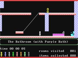 In game image of Jet Set Willy II: The Final Frontier on the Commodore 64.