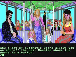 In game image of Jinxter on the Commodore 64.