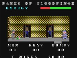 In game image of Joe Blade on the Commodore 64.