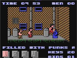 In game image of Joe Blade II on the Commodore 64.