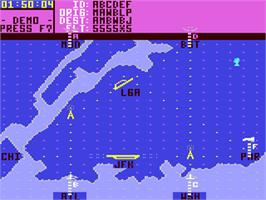 In game image of Kennedy Approach on the Commodore 64.