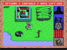 In game image of King's Bounty on the Commodore 64.