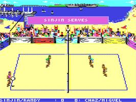 In game image of Kings of the Beach on the Commodore 64.