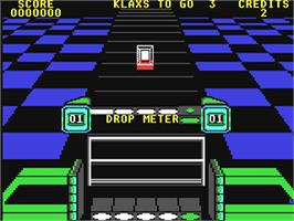 In game image of Klax on the Commodore 64.