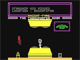 In game image of Knight Tyme on the Commodore 64.