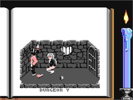 In game image of Knightmare on the Commodore 64.