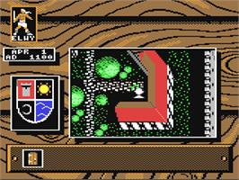 In game image of Knights of Legend on the Commodore 64.