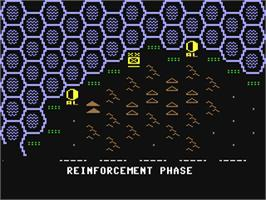 In game image of Knights of the Desert: The North African Campaign of 1941-1943 on the Commodore 64.