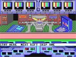 In game image of Koronis Rift on the Commodore 64.