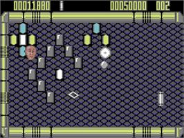 In game image of Krakout on the Commodore 64.