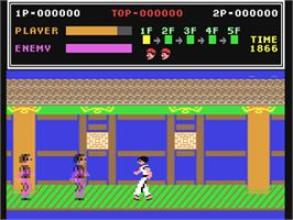 In game image of Kung-Fu Master on the Commodore 64.