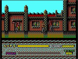 In game image of Last Battle on the Commodore 64.
