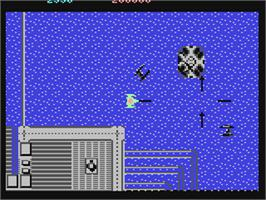 In game image of Last Mission on the Commodore 64.
