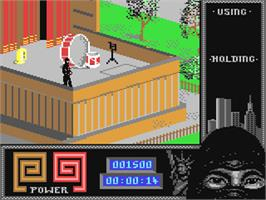 In game image of Last Ninja 2: Back with a Vengeance on the Commodore 64.