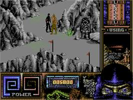 In game image of Last Ninja 3 on the Commodore 64.