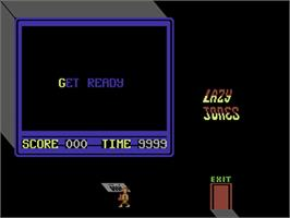In game image of Lazy Jones on the Commodore 64.
