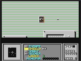 In game image of Life Force on the Commodore 64.