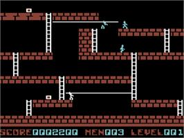 In game image of Lode Runner on the Commodore 64.