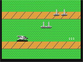 In game image of Mag Max on the Commodore 64.