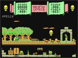 In game image of Magic Rufus on the Commodore 64.