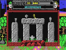 In game image of Magicland Dizzy on the Commodore 64.